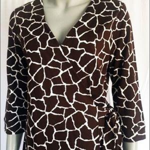 DVF Diane von Furstenberg Wrap Dress Mini 12 NWT